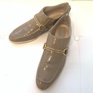 STELLA MCCARTNEY Patent Faux Leather Loafers Sz 40